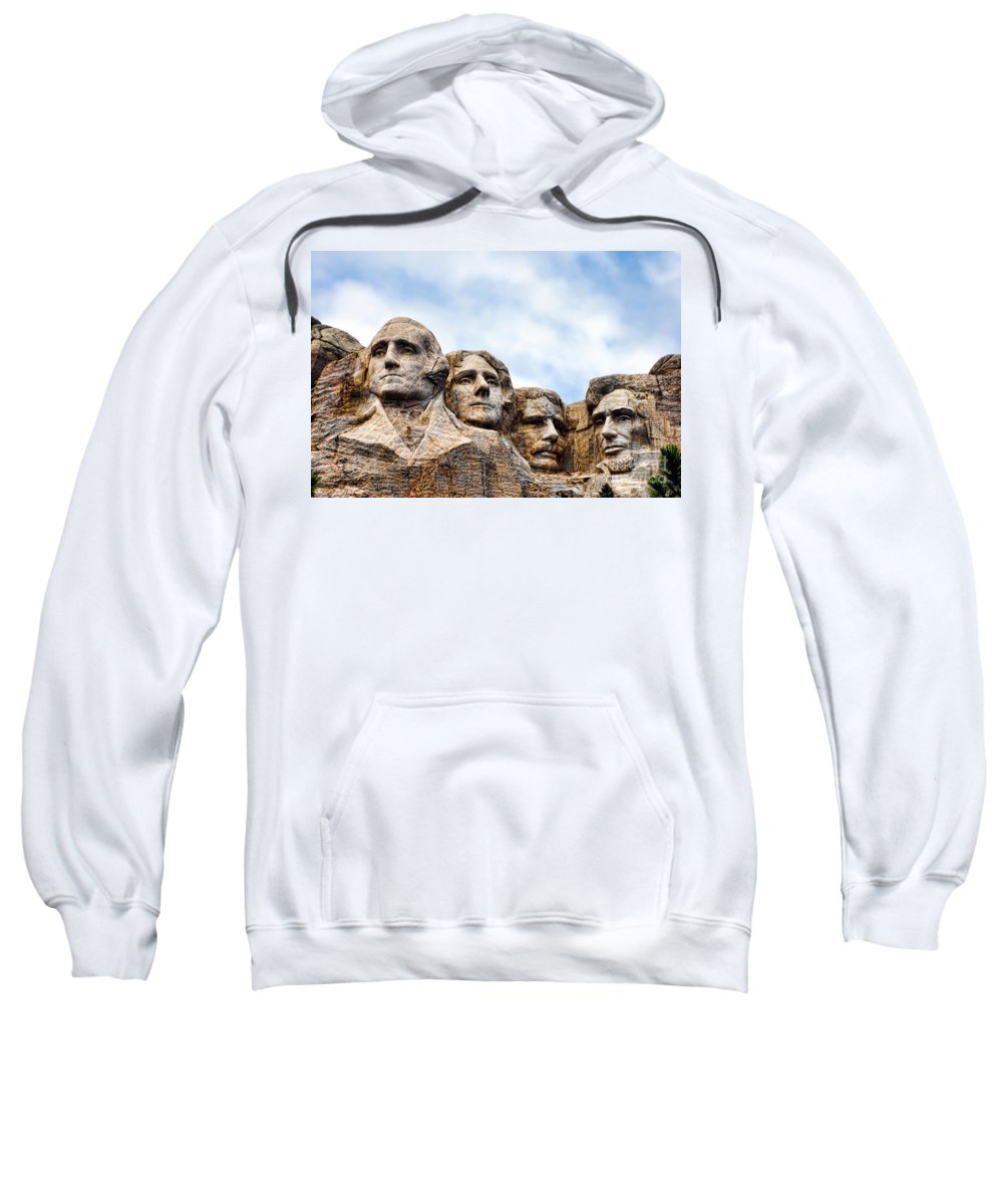 Mount Sweatshirt featuring the photograph Mount Rushmore Monument by Olivier Le Queinec