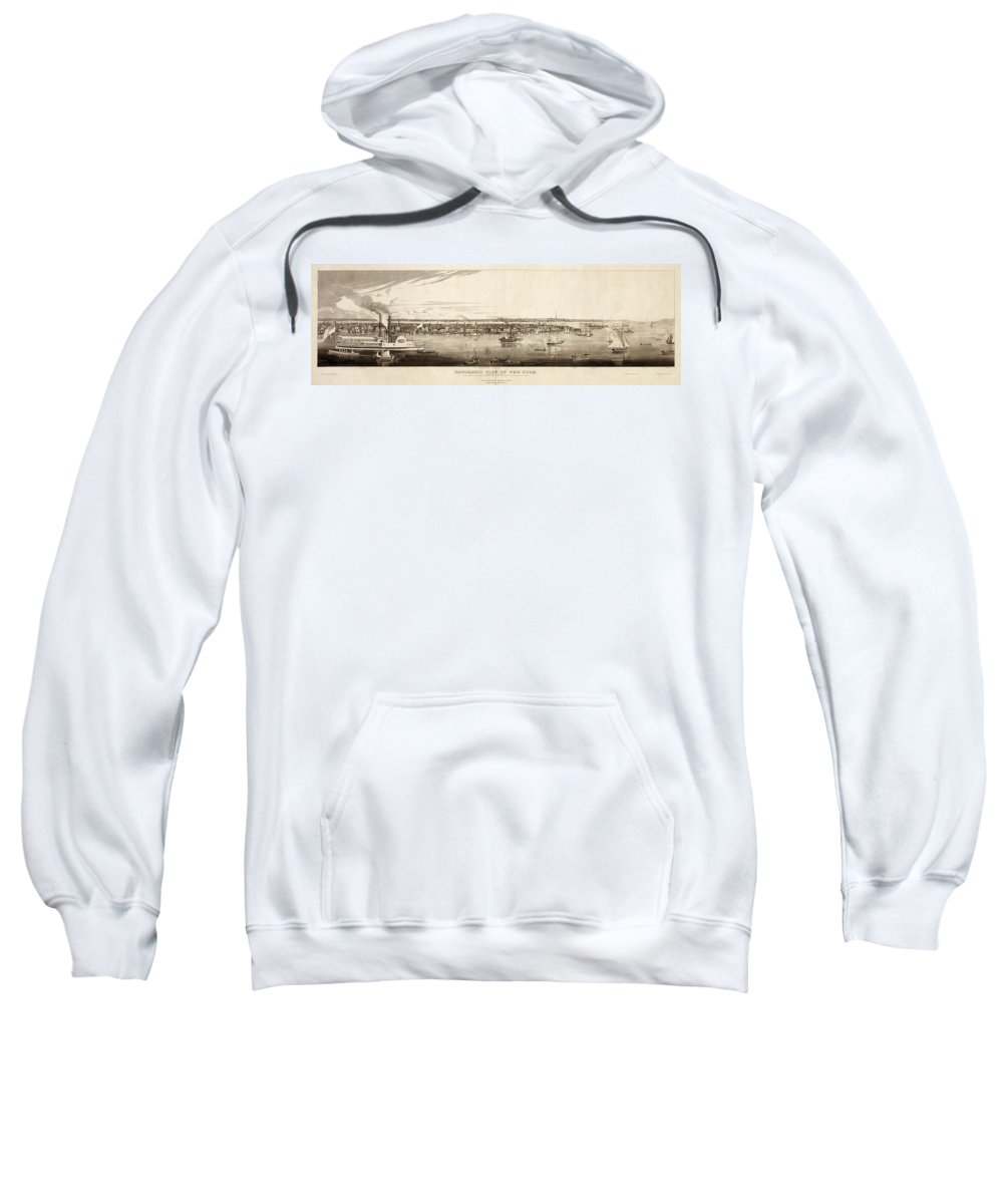 1840 Sweatshirt featuring the painting New York City, 1840 by Granger
