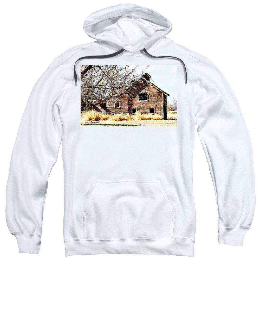 Old Barn Sweatshirt featuring the photograph Petite Barn by Sylvia Thornton