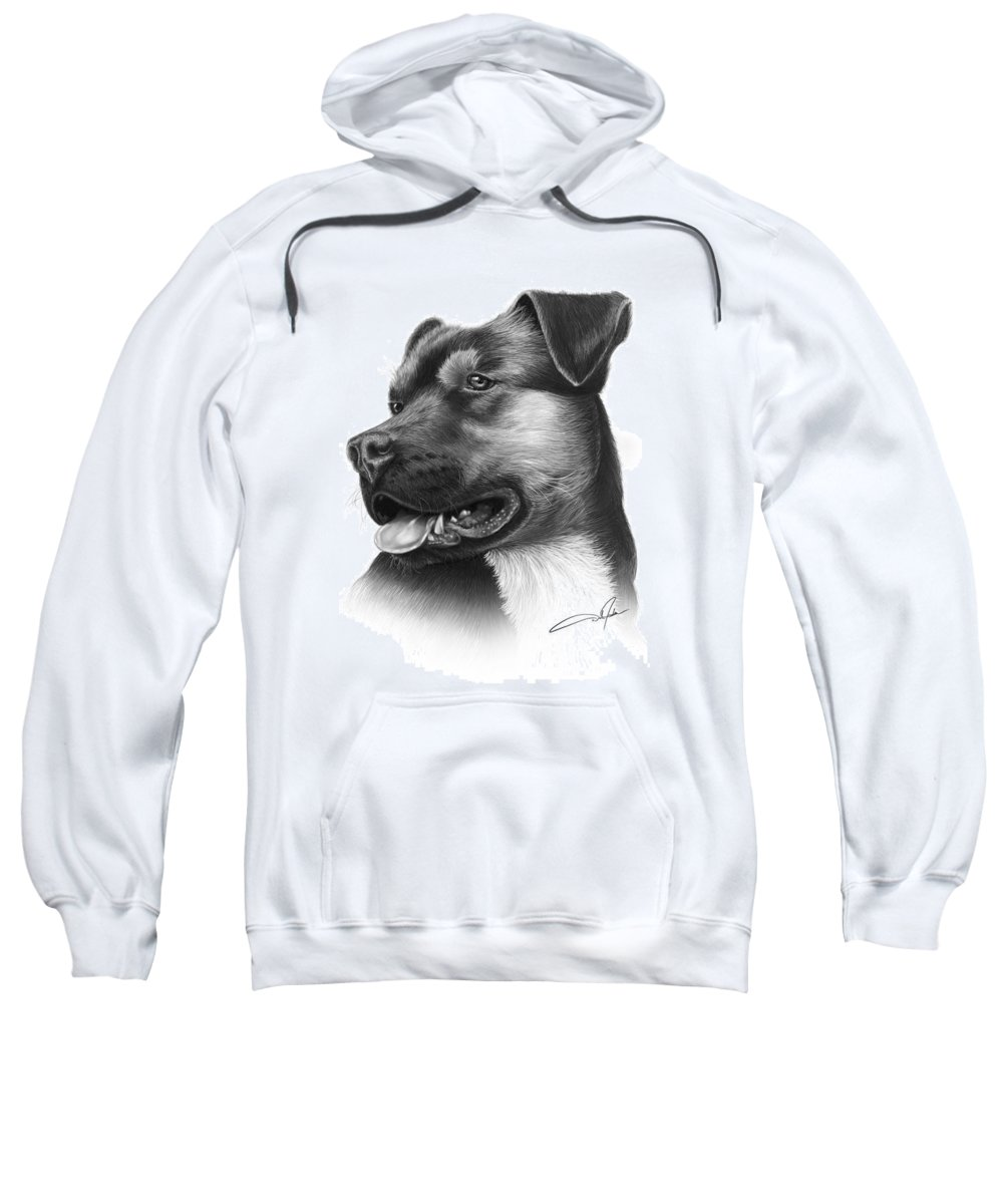 Pencil Sweatshirt featuring the drawing Portrait Of A Dog by Dale Jackson