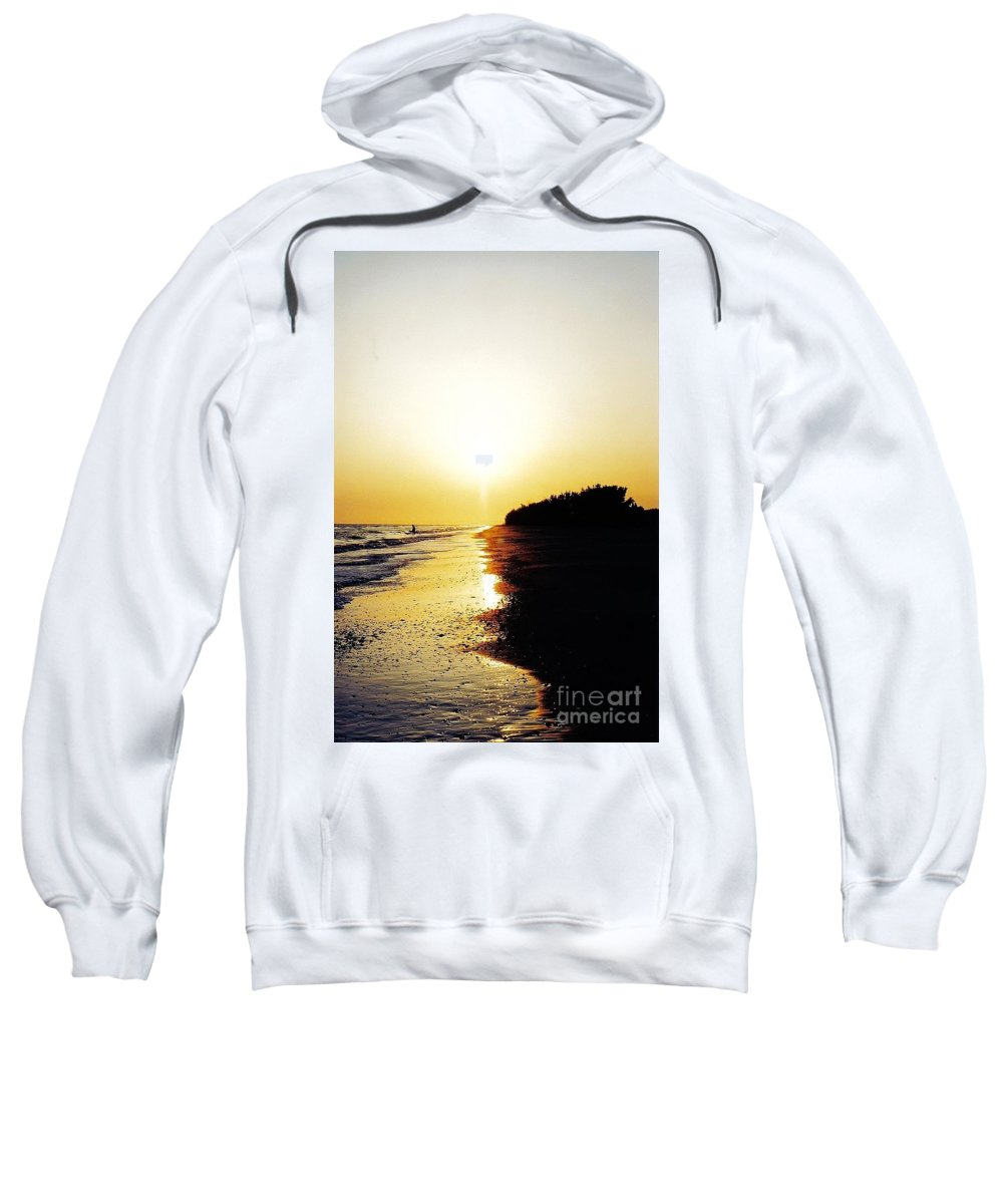 Sunset Sweatshirt featuring the photograph Amazing Sanibel Sunset by D Hackett