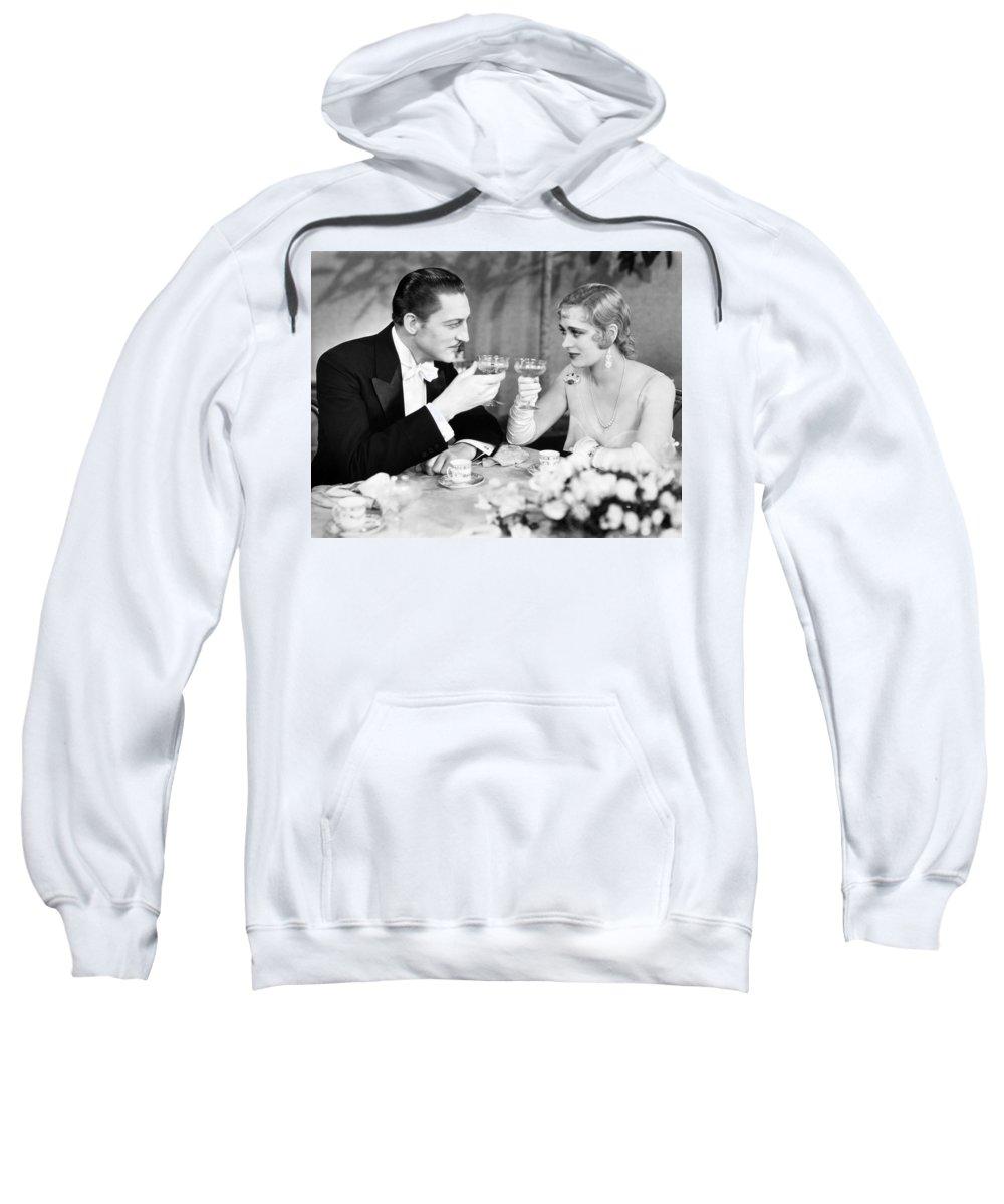 1920s Sweatshirt featuring the photograph Silent Film Still: Drinking by Granger