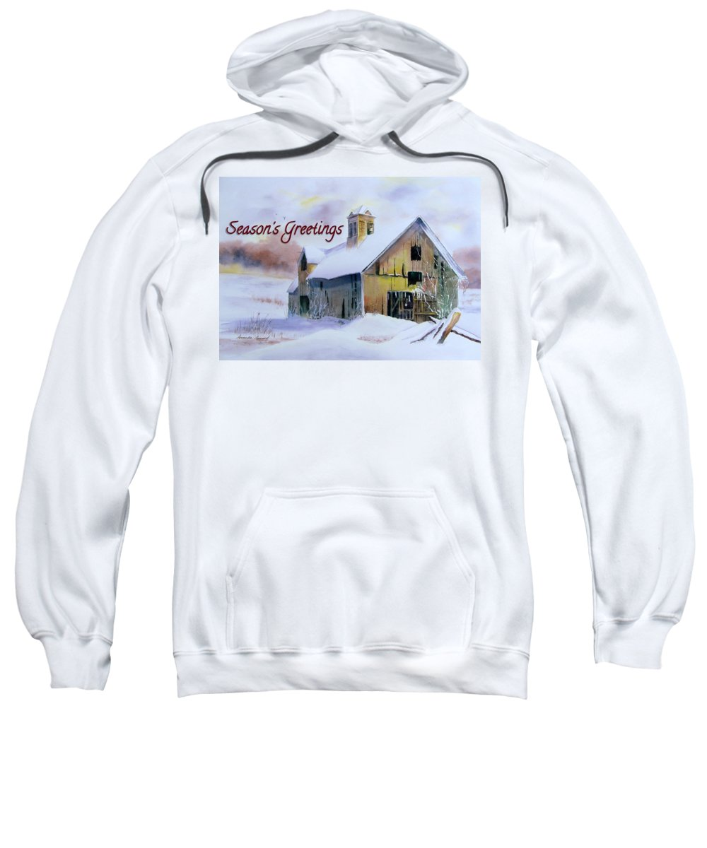 Christmas Card Sweatshirt featuring the painting 2014 Christmas Card by Amanda Amend