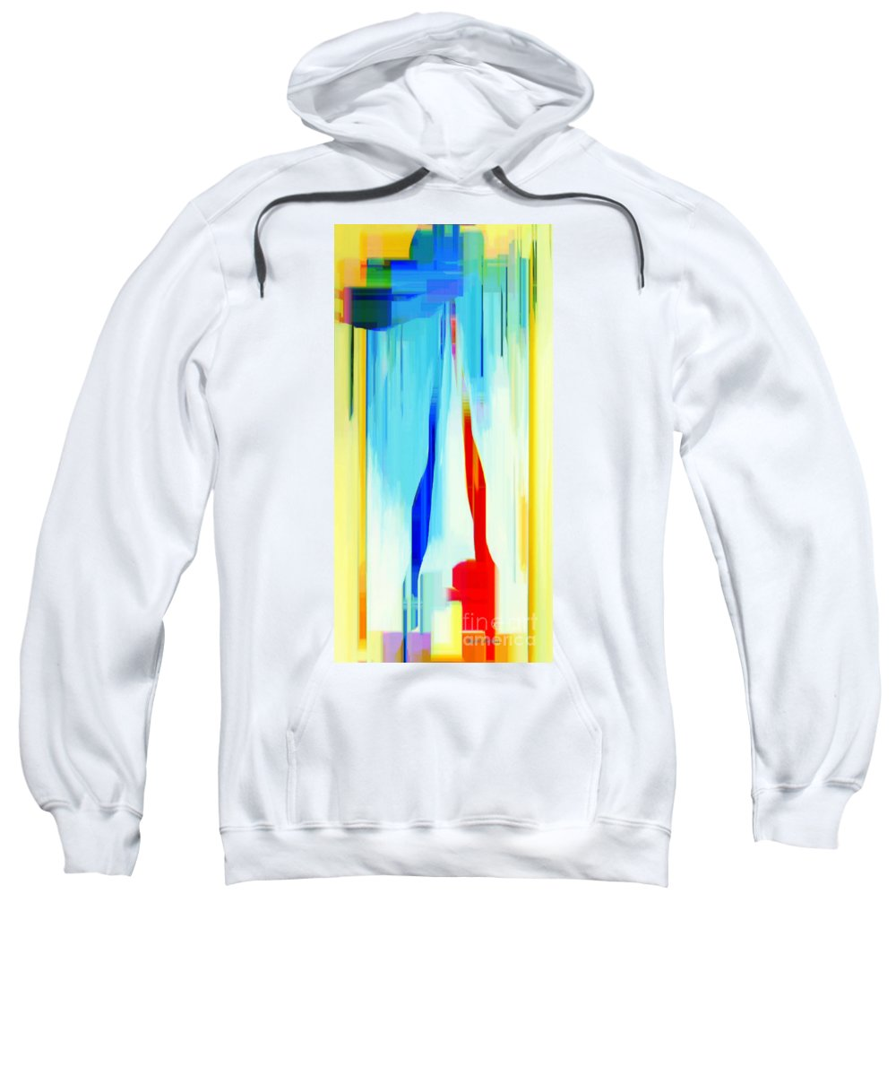 Abstract Sweatshirt featuring the digital art Abstract Series Iv by Rafael Salazar