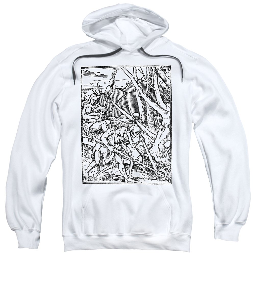 1538 Sweatshirt featuring the painting Dance Of Death, 1538 by Granger
