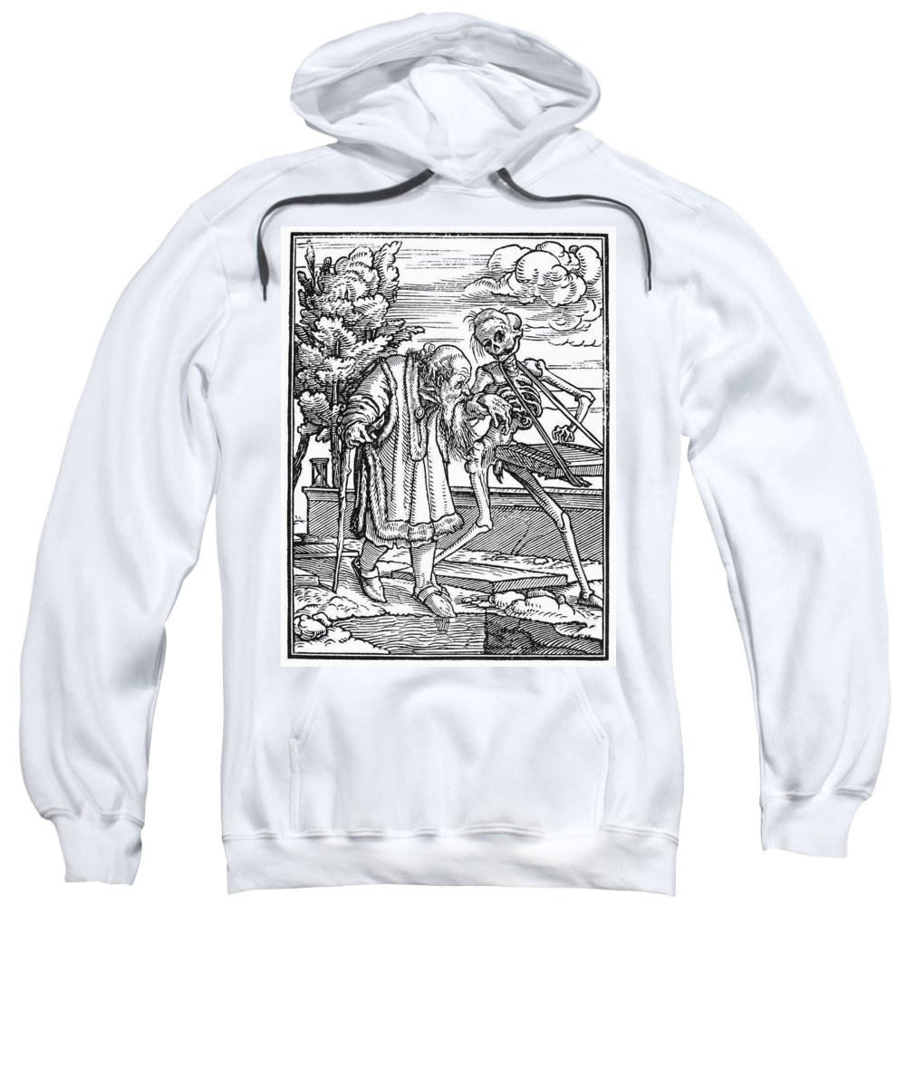 1547 Sweatshirt featuring the painting Dance Of Death, 1538 by Granger