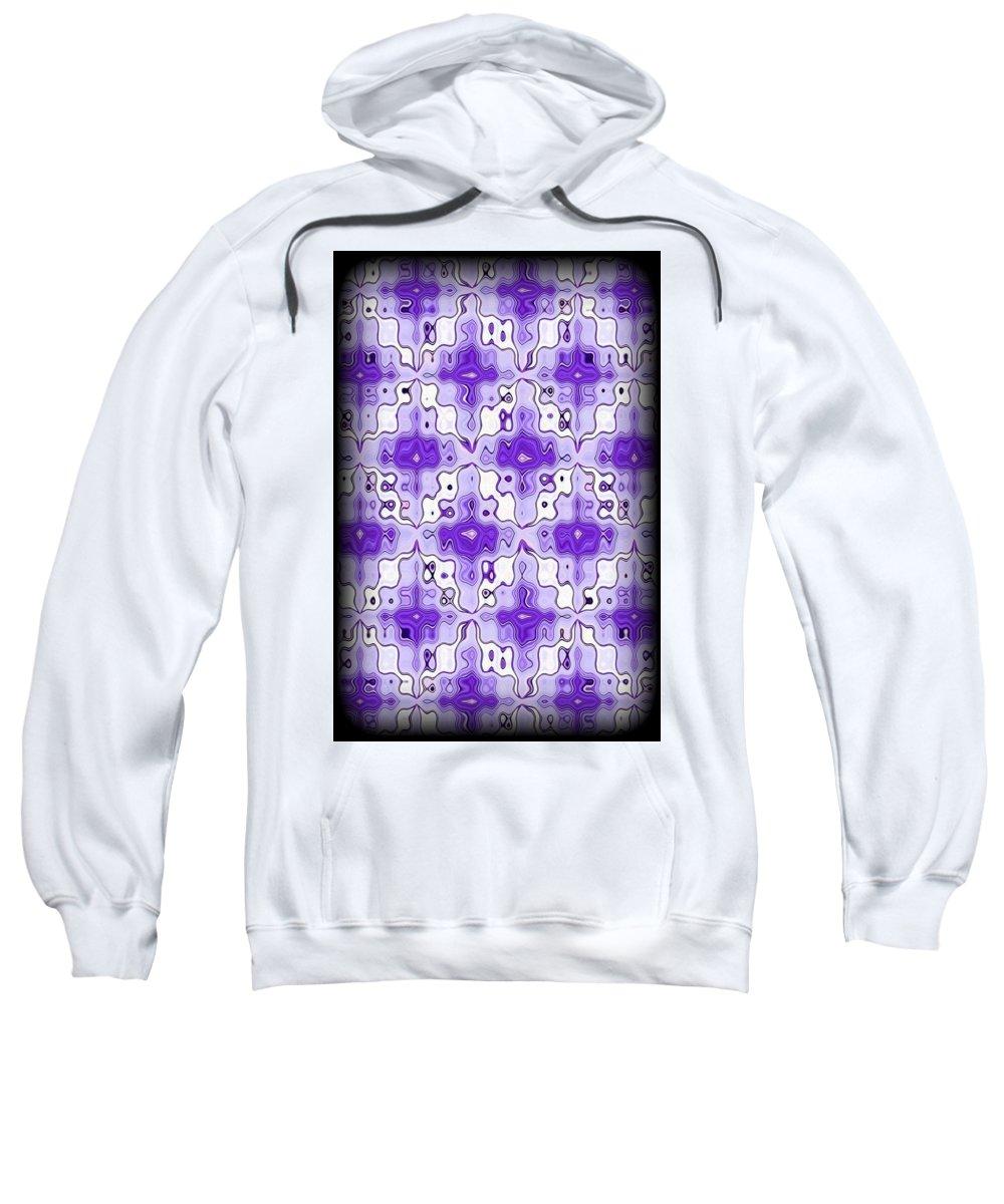 Original Sweatshirt featuring the digital art Abstract 120 by J D Owen