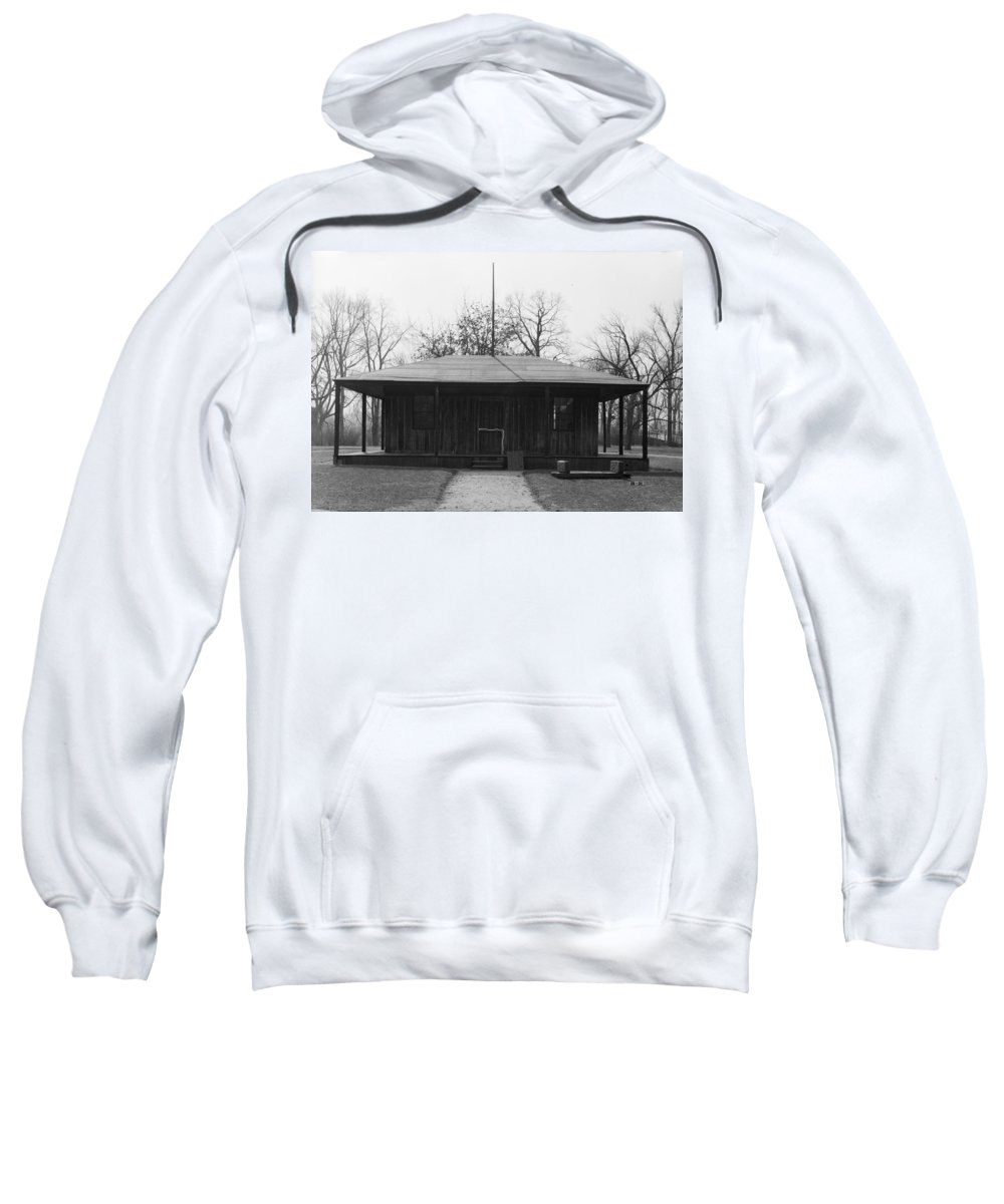 1740 Sweatshirt featuring the photograph Cahokia Courthouse by Granger