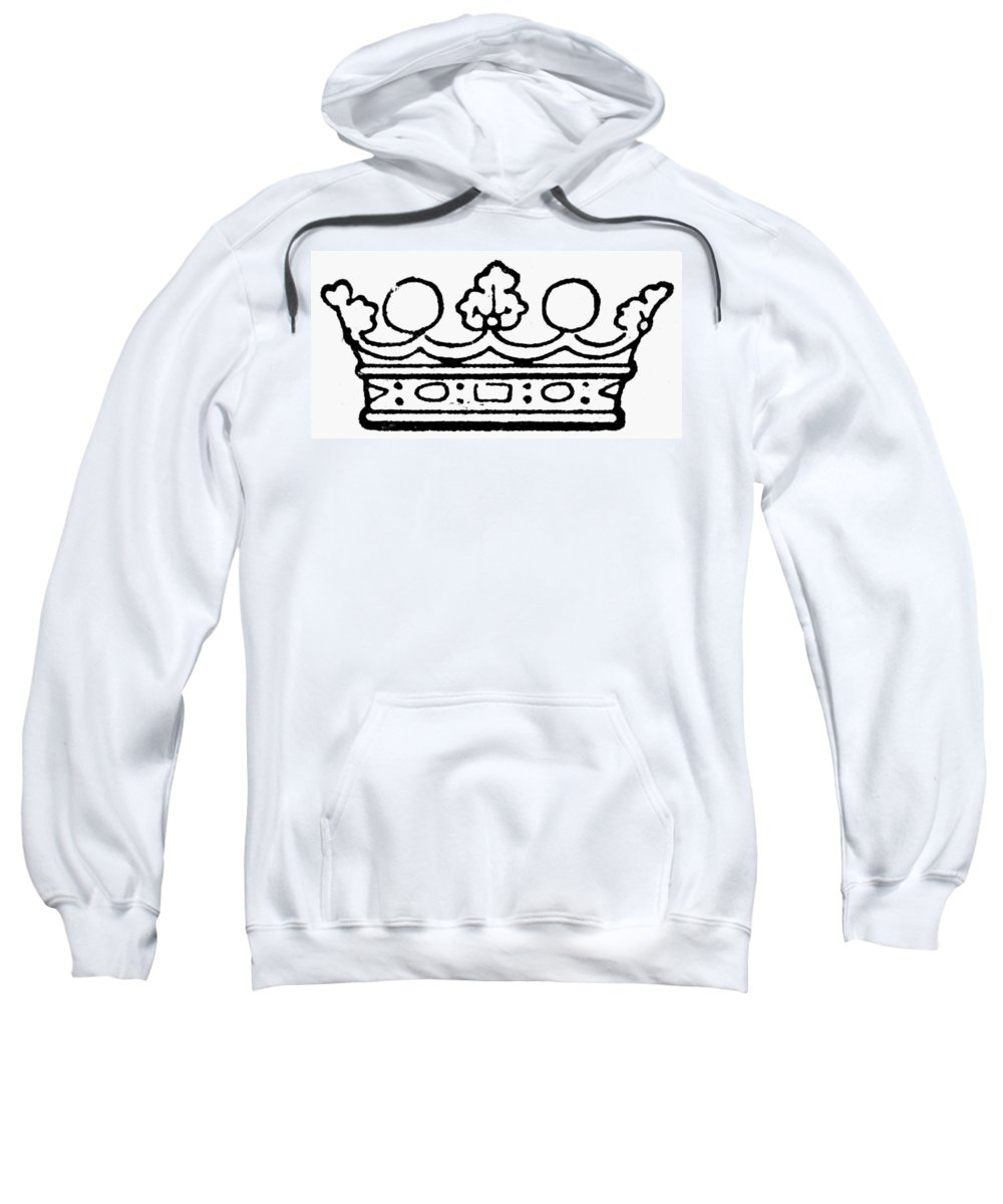 Coronet Sweatshirt featuring the painting English Crown by Granger