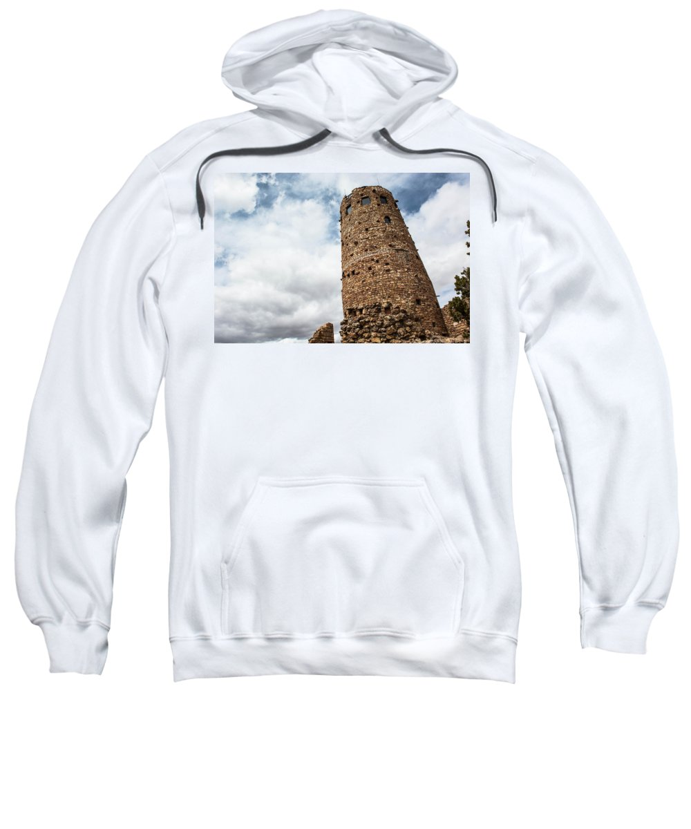 Indian Sweatshirt featuring the photograph Indian Watchtower Grand Canyon by Michael Moriarty