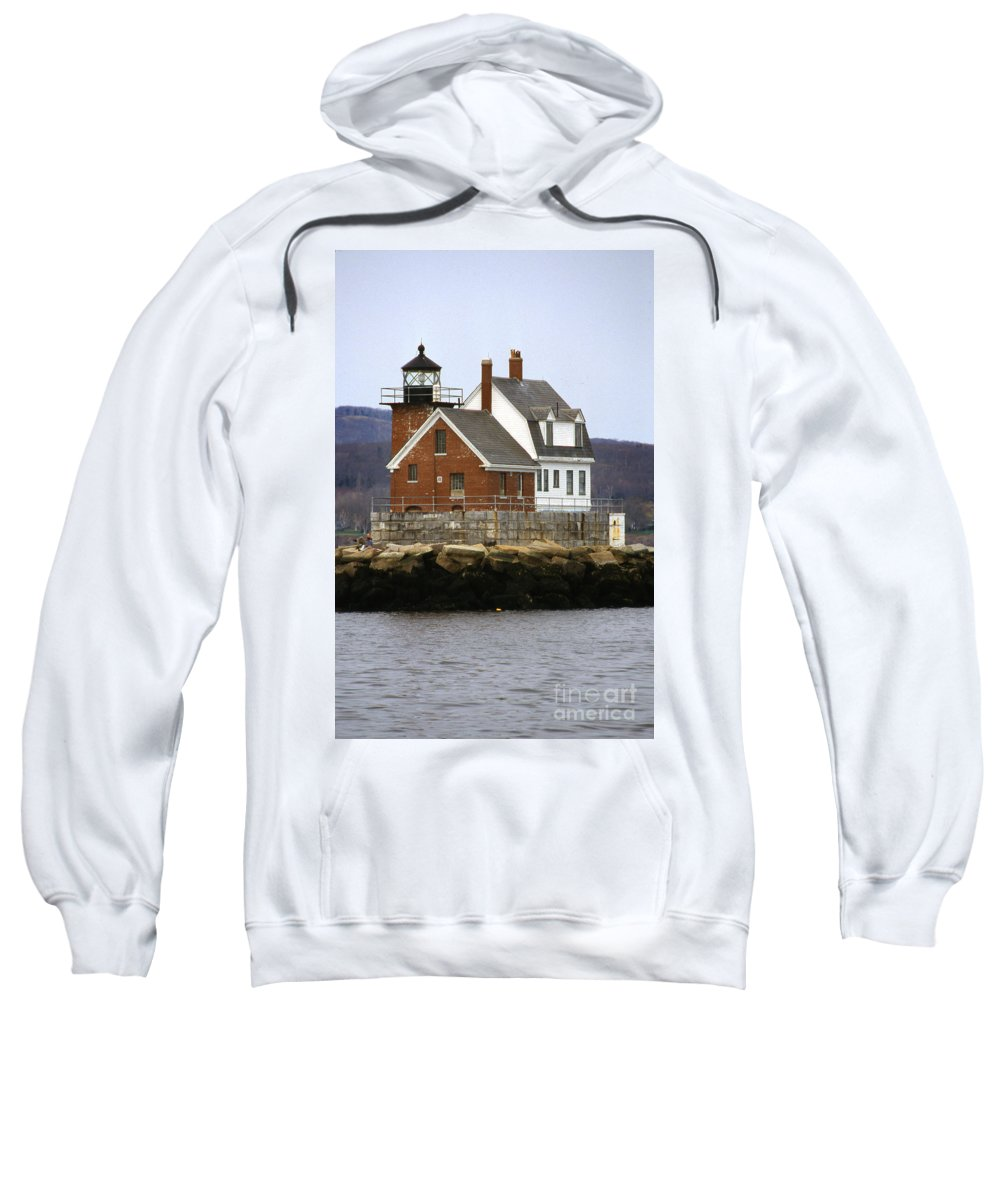 Maritime Sweatshirt featuring the photograph Rockland Breakwater Lighthouse by Skip Willits