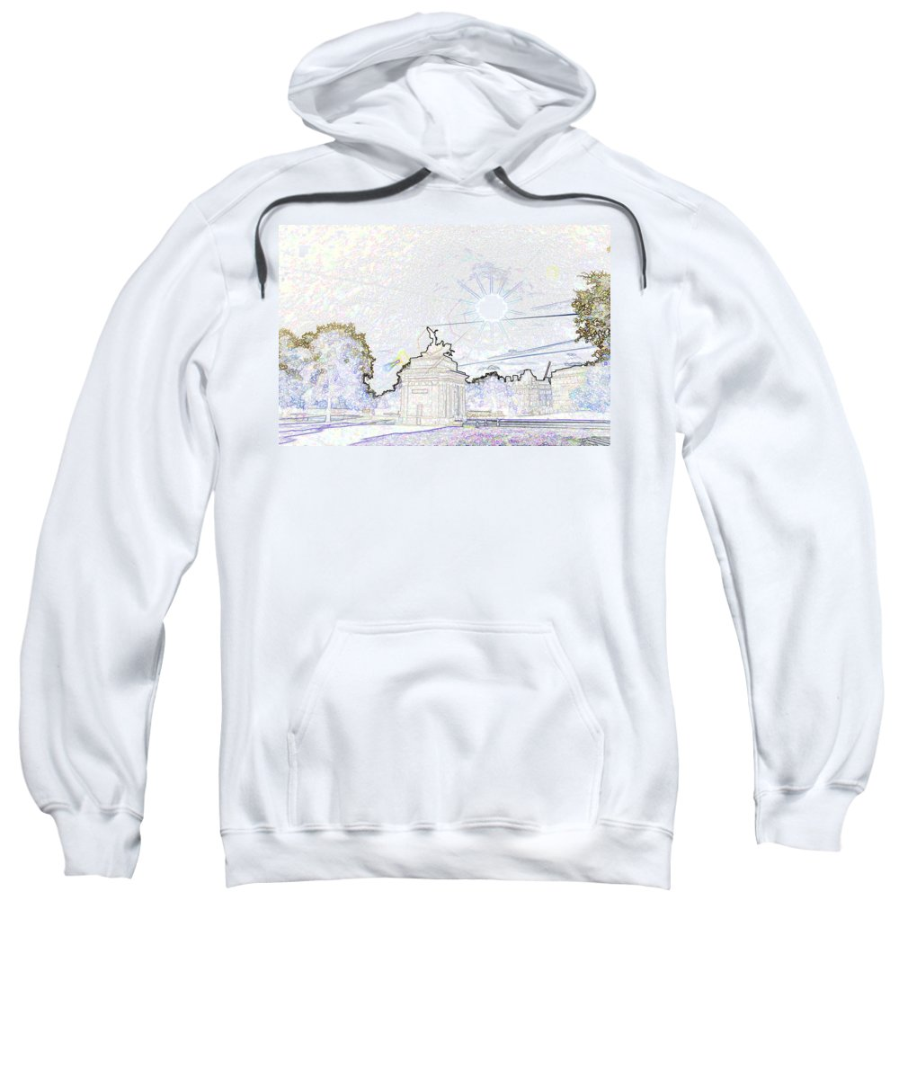 Action Sweatshirt featuring the photograph Statue Of Angel Of Peace Atop The Wellington Arch by Ashish Agarwal