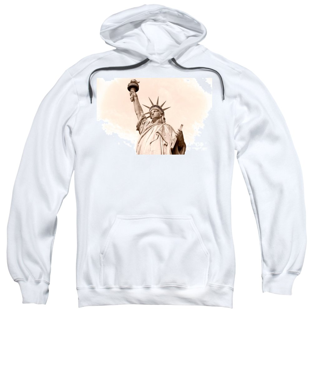 American Sweatshirt featuring the photograph Statue Of Liberty by Luciano Mortula