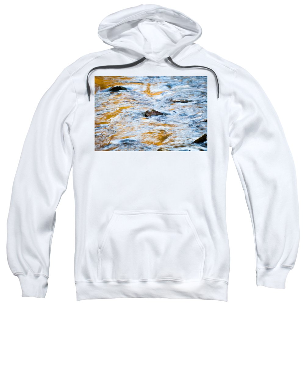 Stream Sweatshirt featuring the photograph Stream Great Smoky Mountains Painted by Rich Franco