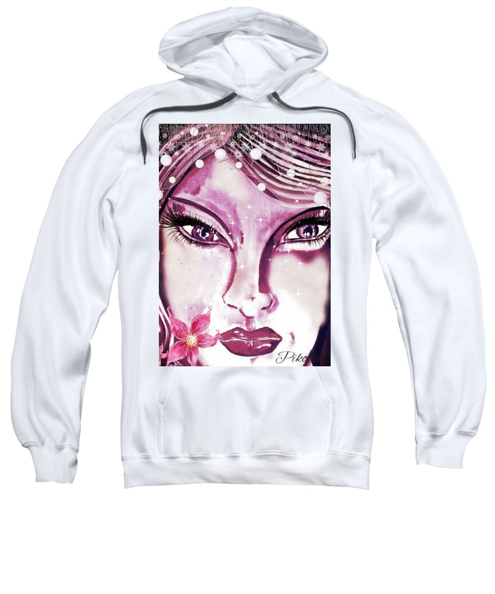 Pikotine Sweatshirt featuring the painting Pikotine Art by Pikotine Art