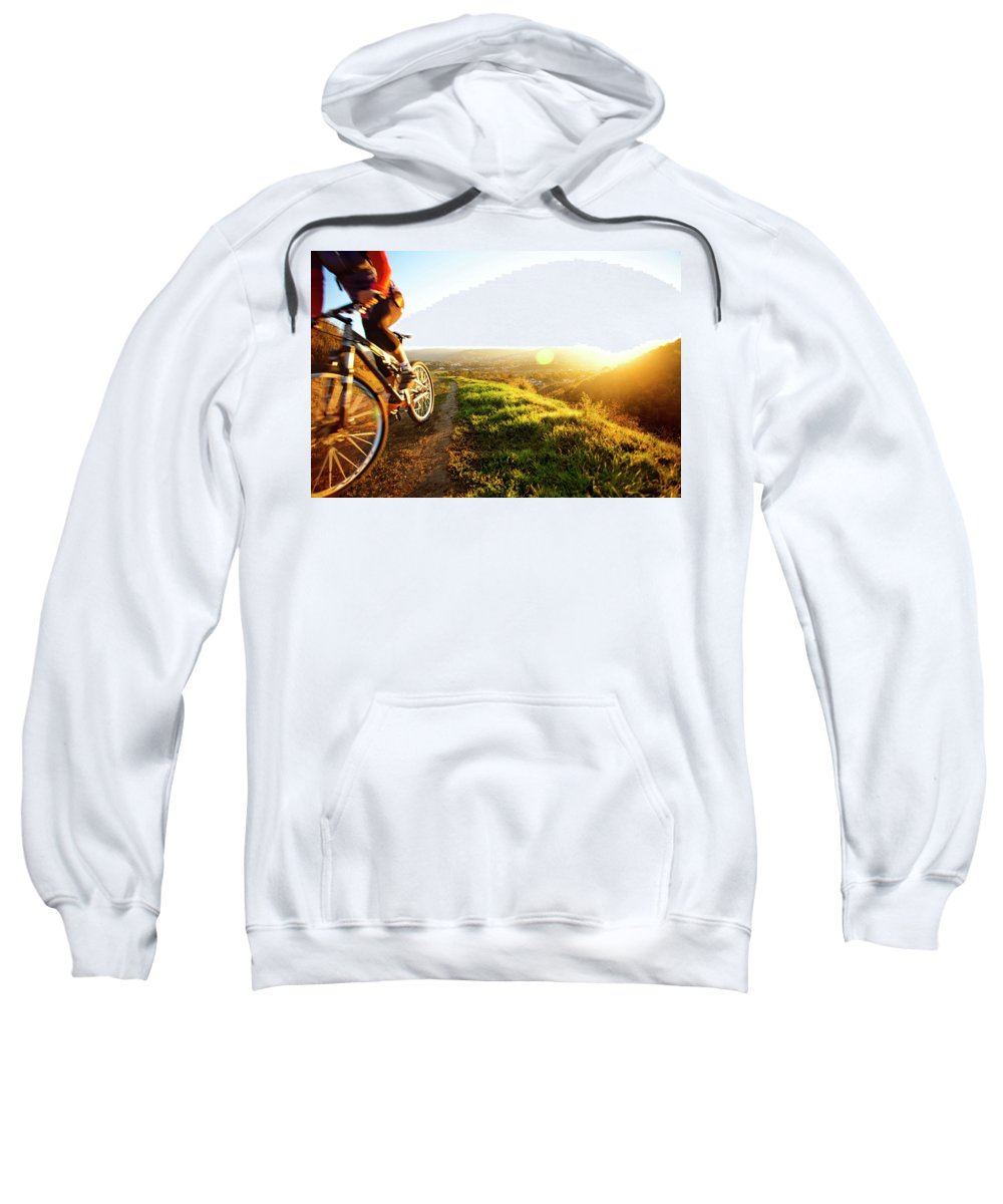 25-29 Years Sweatshirt featuring the photograph An Active Woman In Her Mid-twenties by Robert Zaleski