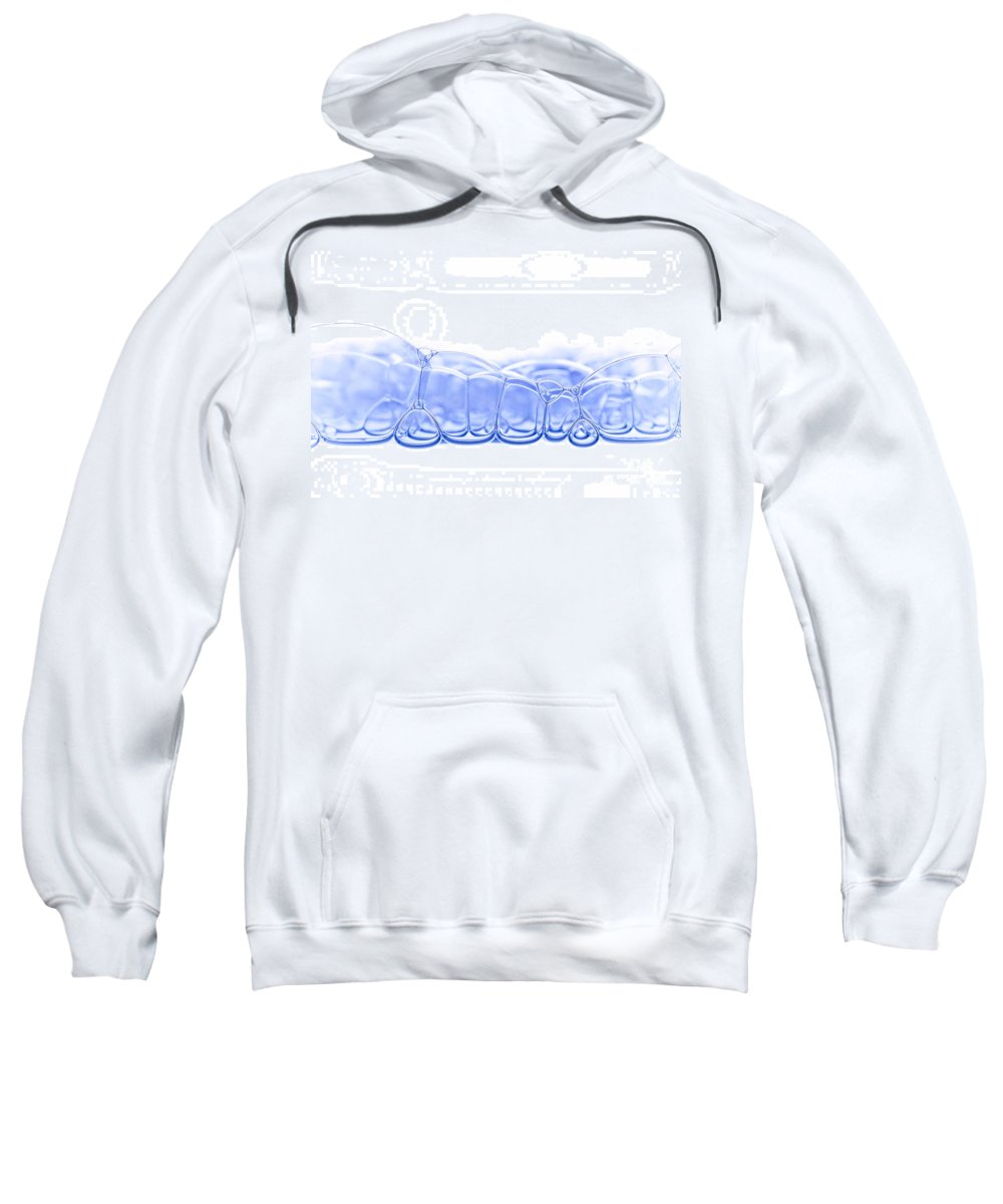 Abstract Sweatshirt featuring the photograph Bubbles by Michal Boubin