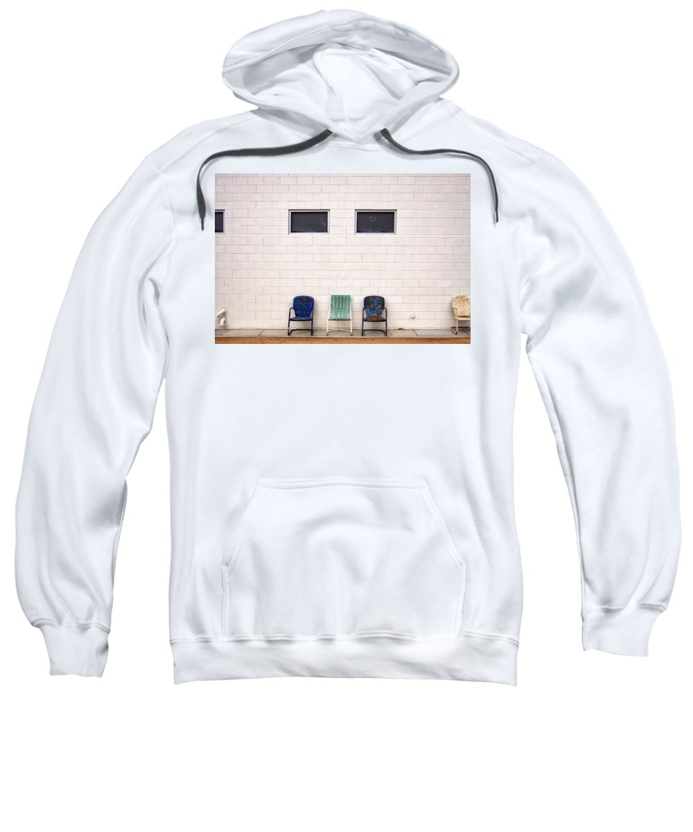 Chairs Sweatshirt featuring the photograph Ace Chairs Palm Springs by William Dey