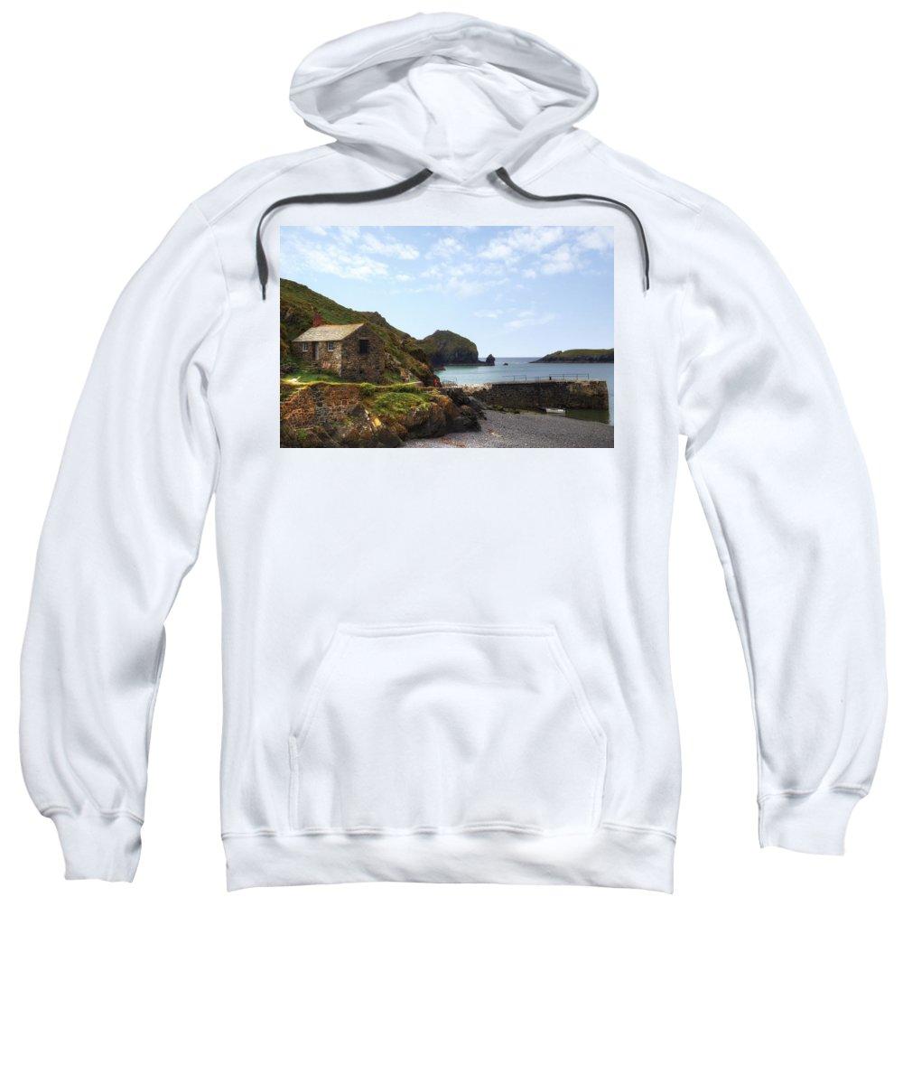 Mullion Cove Sweatshirt featuring the photograph Cornwall - Mullion Cove by Joana Kruse