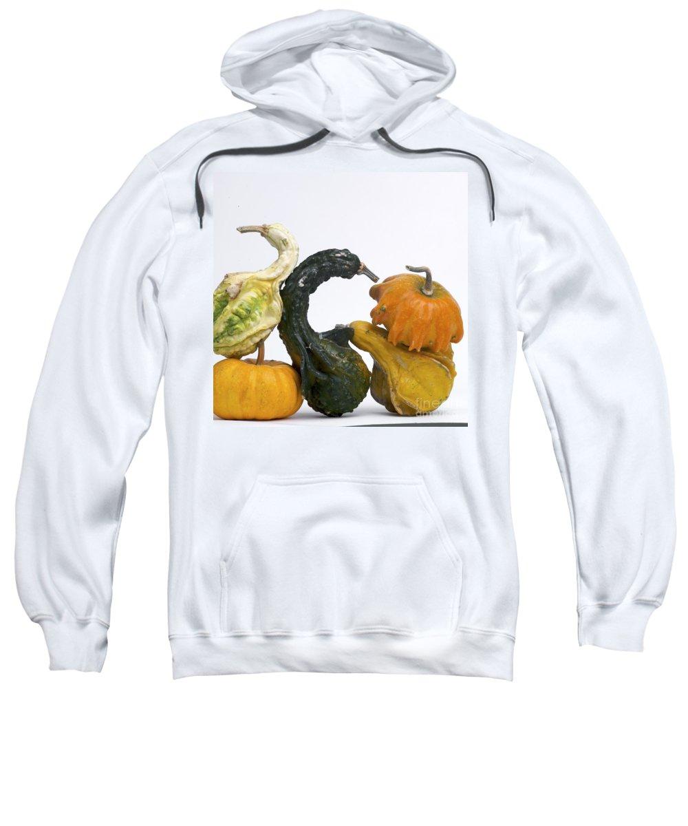 Food Sweatshirt featuring the photograph Gourds And Pumpkins by Bernard Jaubert