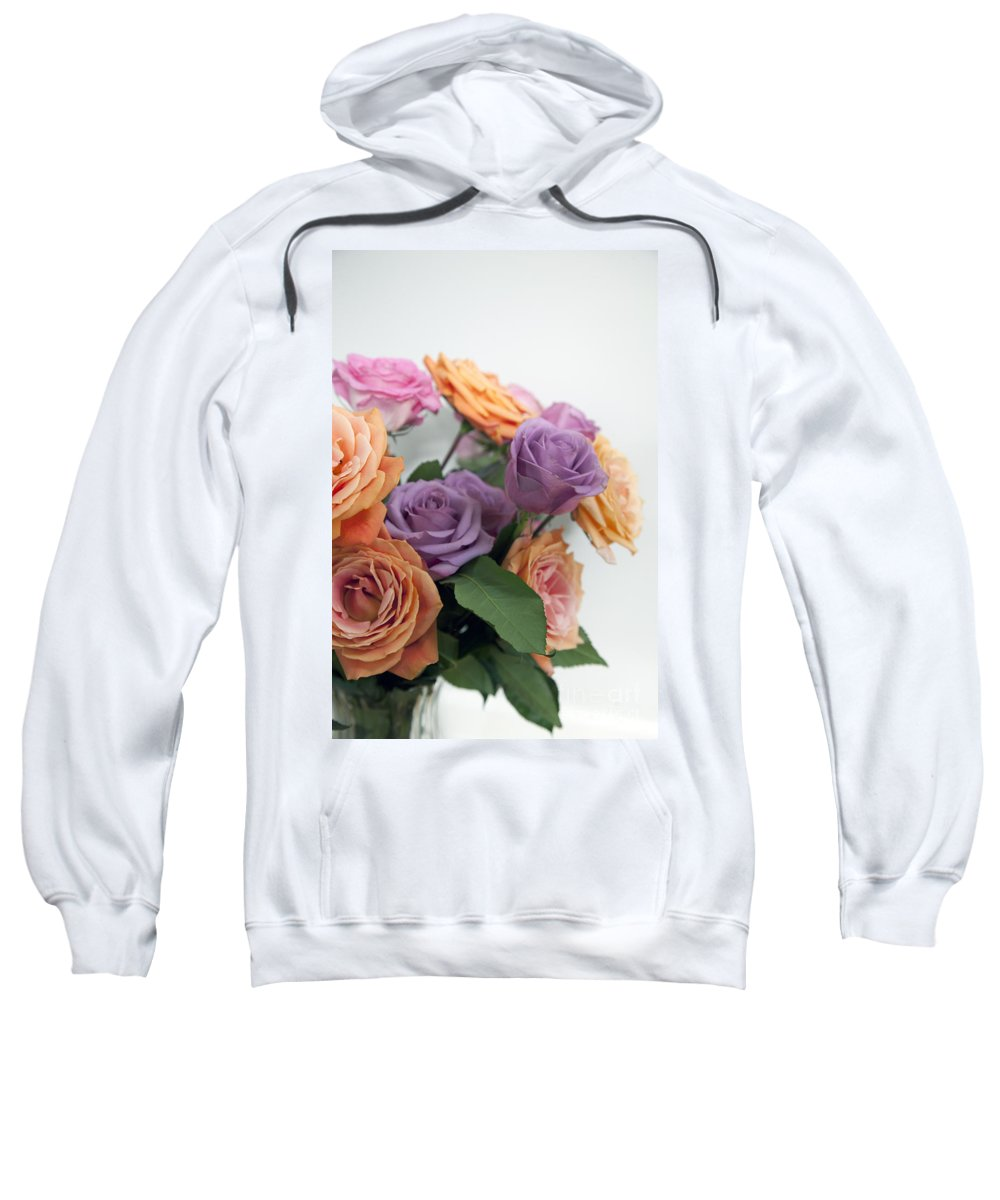 Roses Sweatshirt featuring the photograph Roses by Amanda Barcon