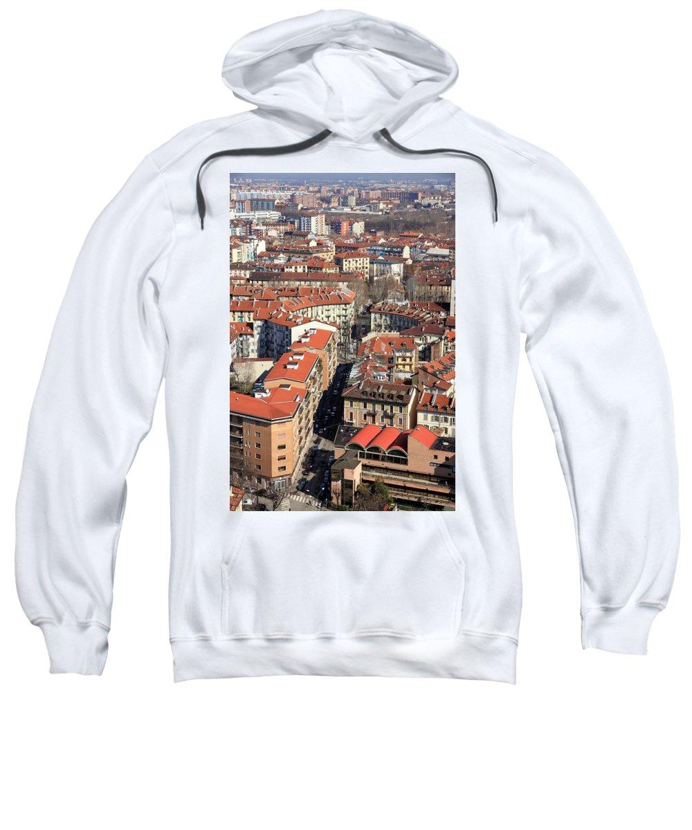 Torino Sweatshirt featuring the photograph View Of Turin by Valentino Visentini