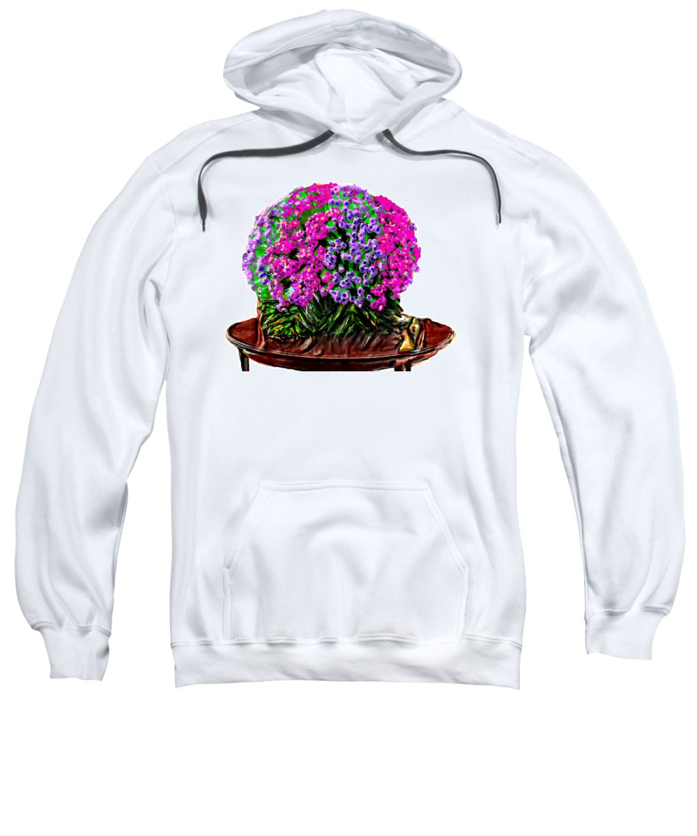 Bruce Sweatshirt featuring the painting Beautiful Arrangement Of Flowers by Bruce Nutting