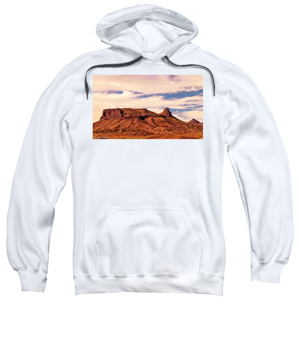 Arizona Sweatshirt featuring the digital art Navajo Nation Series Along 87 And 15 by Bob and Nadine Johnston