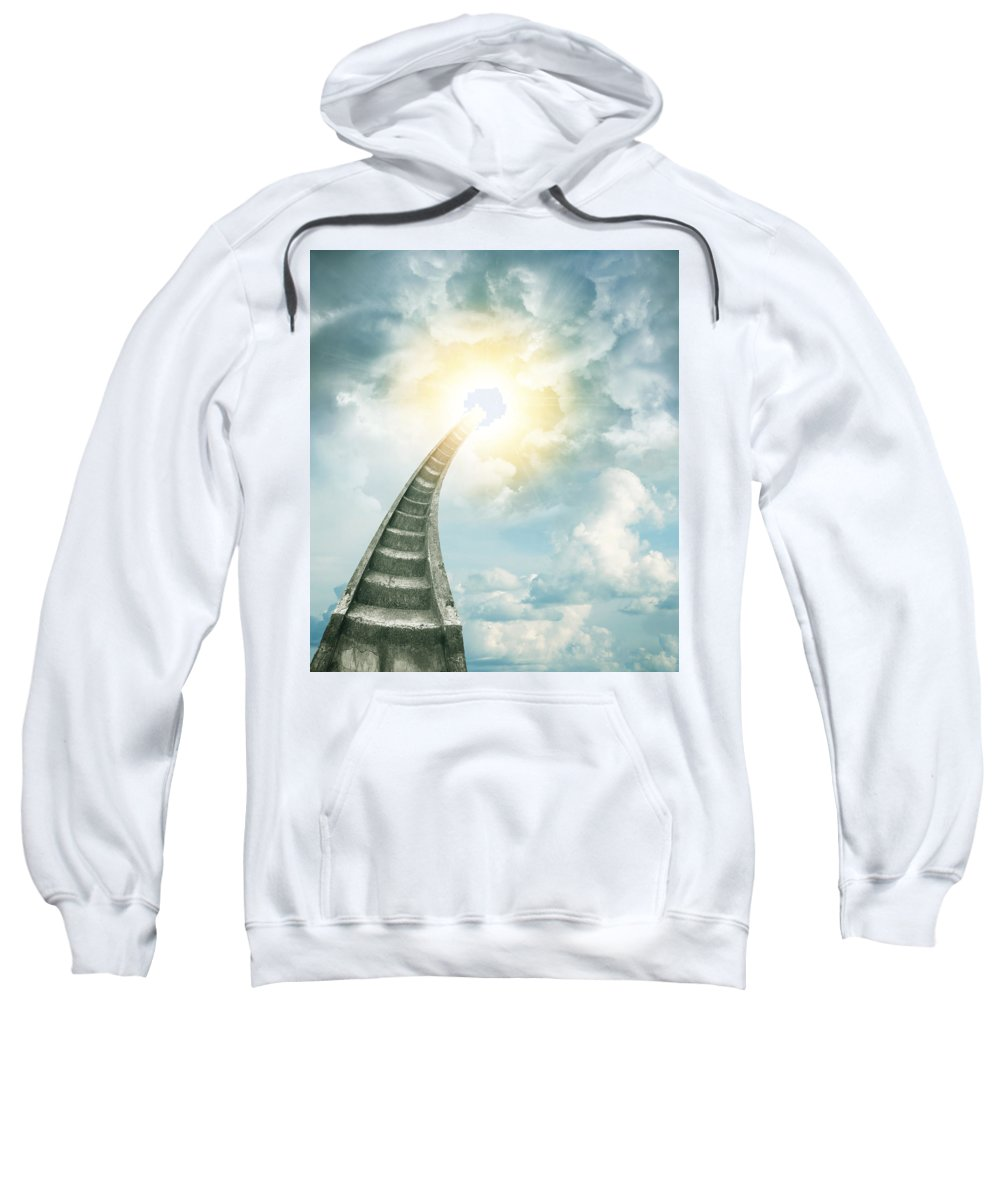 Stairway To Heaven Sweatshirt featuring the photograph Stairway To Heaven by Les Cunliffe