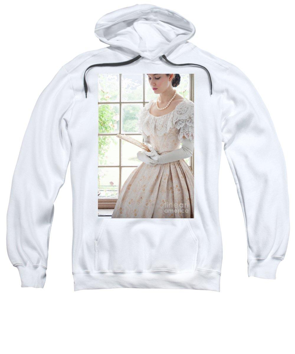 Victorian Sweatshirt featuring the photograph Victorian Woman by Lee Avison