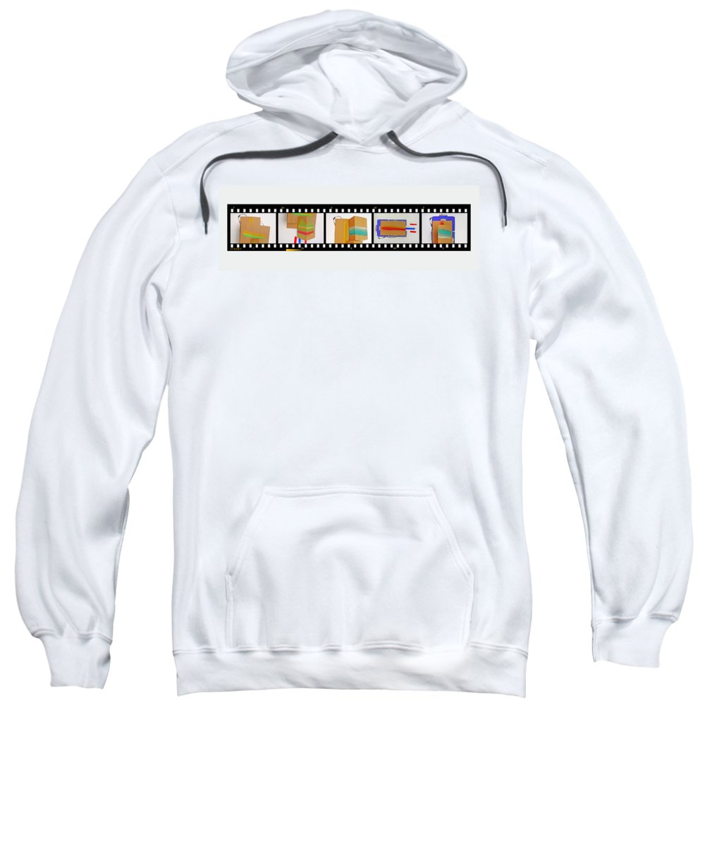 Terracotta Army Sweatshirt featuring the painting 57 Contact Strip by Charles Stuart