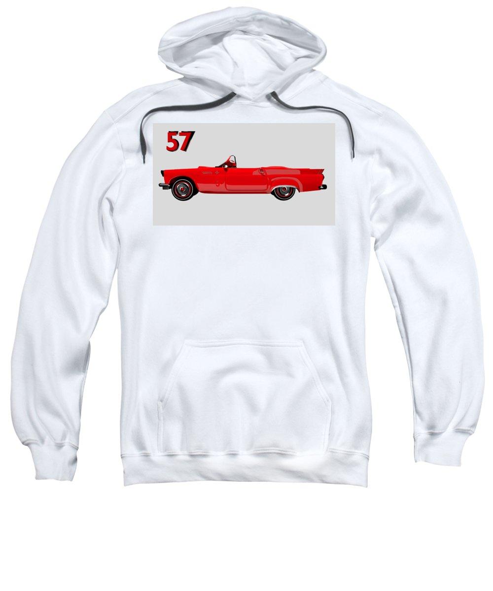 1957 Sweatshirt featuring the digital art 57 Fun Fun by Brainwave Pictures