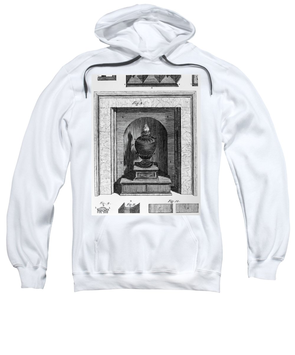 1781 Sweatshirt featuring the photograph Franklin: Stove by Granger