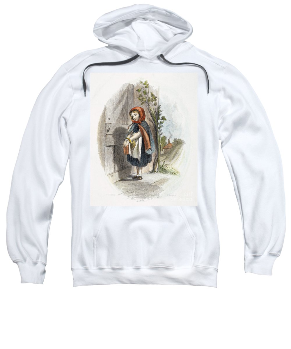 19th Century Sweatshirt featuring the photograph Little Red Riding Hood by Granger