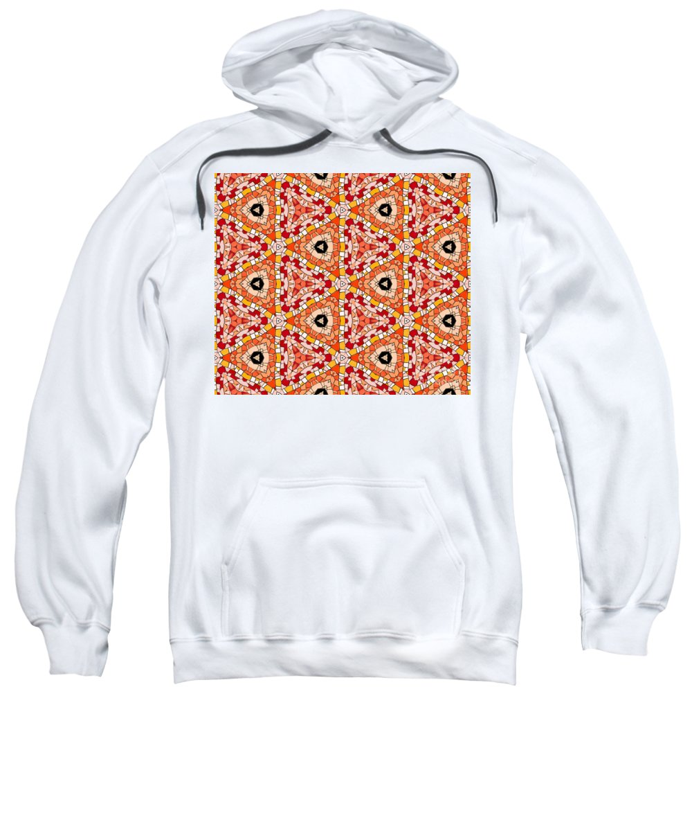 Abstract Sweatshirt featuring the photograph Seamlessly Tiled Kaleidoscopic Mosaic Pattern by Stephan Pietzko