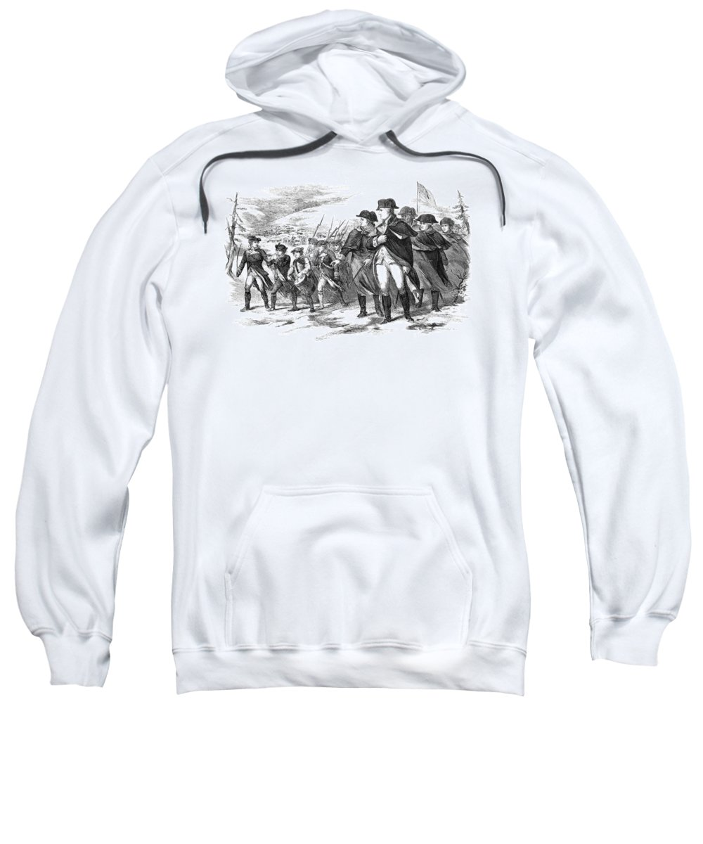 1777 Sweatshirt featuring the photograph Washington: Valley Forge by Granger