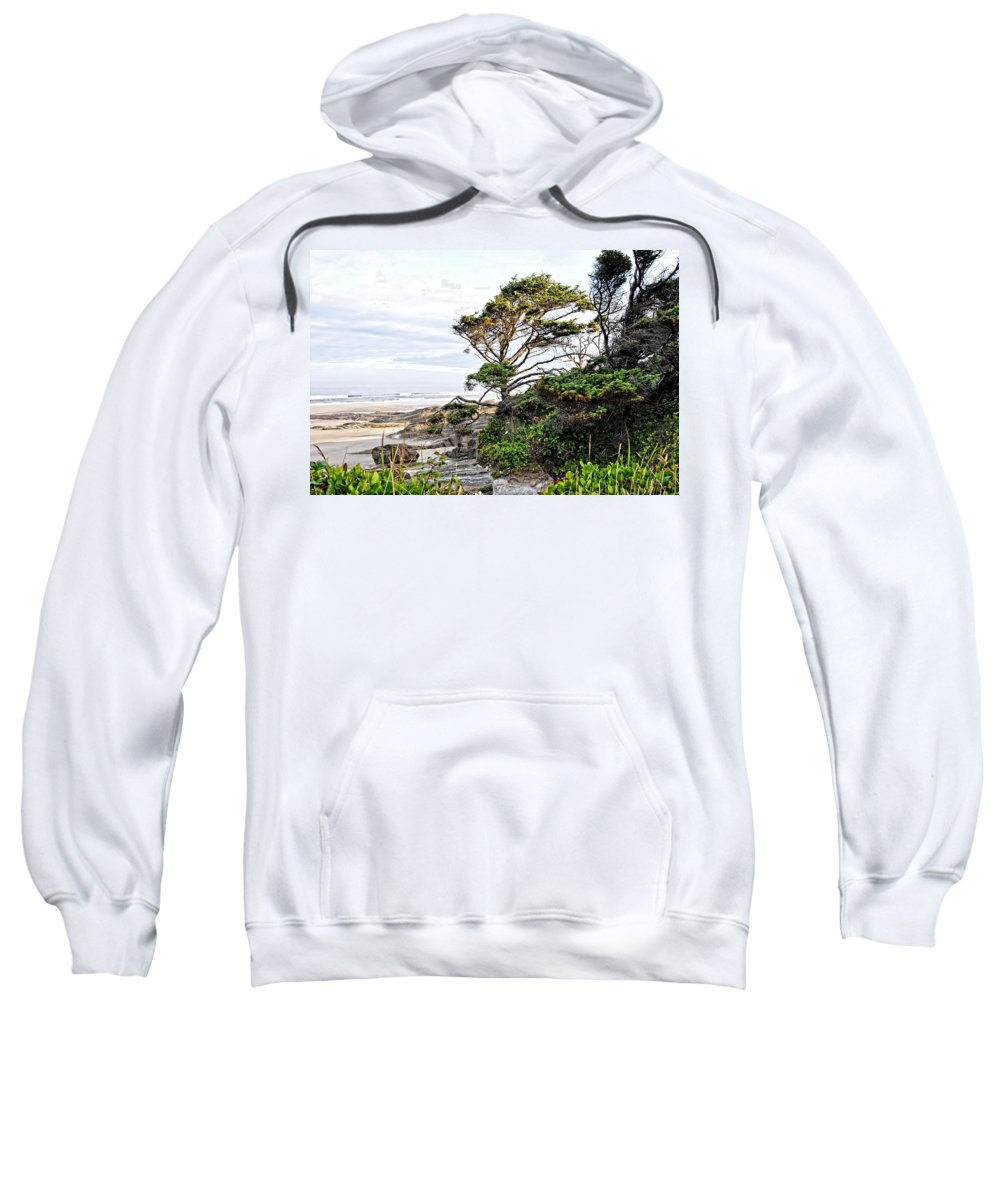 Yachats Sweatshirt featuring the photograph Yachats Oregon by Image Takers Photography LLC