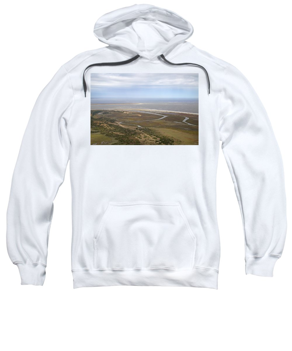 Aerial Sweatshirt featuring the photograph Aerial Near Jekyll Island by Betsy Knapp