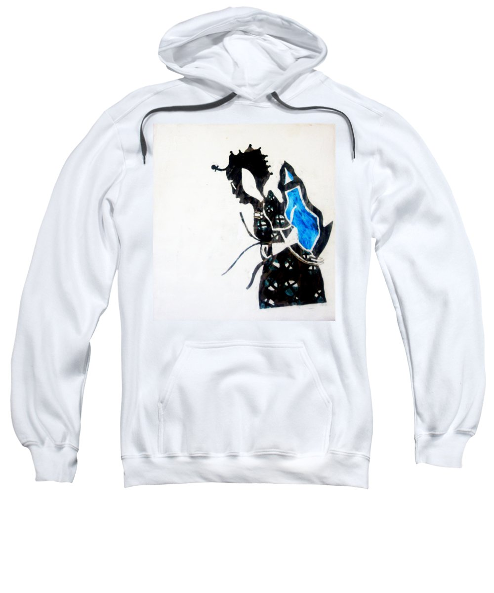 Jesus Sweatshirt featuring the painting The Wise Virgin by Gloria Ssali