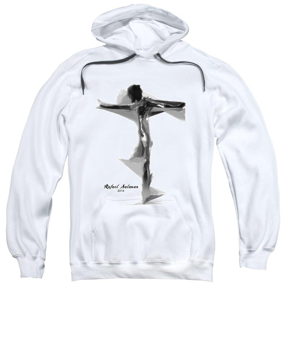 Abstract Sweatshirt featuring the digital art Abstract Series I by Rafael Salazar
