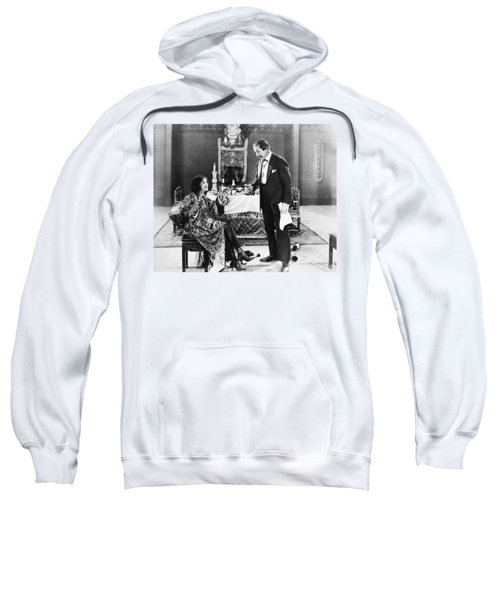 1920s Sweatshirt featuring the photograph Film Still: Eating & Drinking by Granger