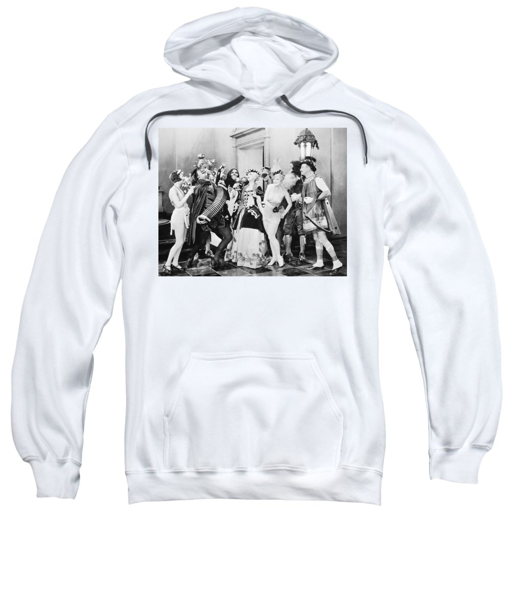 1920s Sweatshirt featuring the photograph Silent Film Still: Parties by Granger