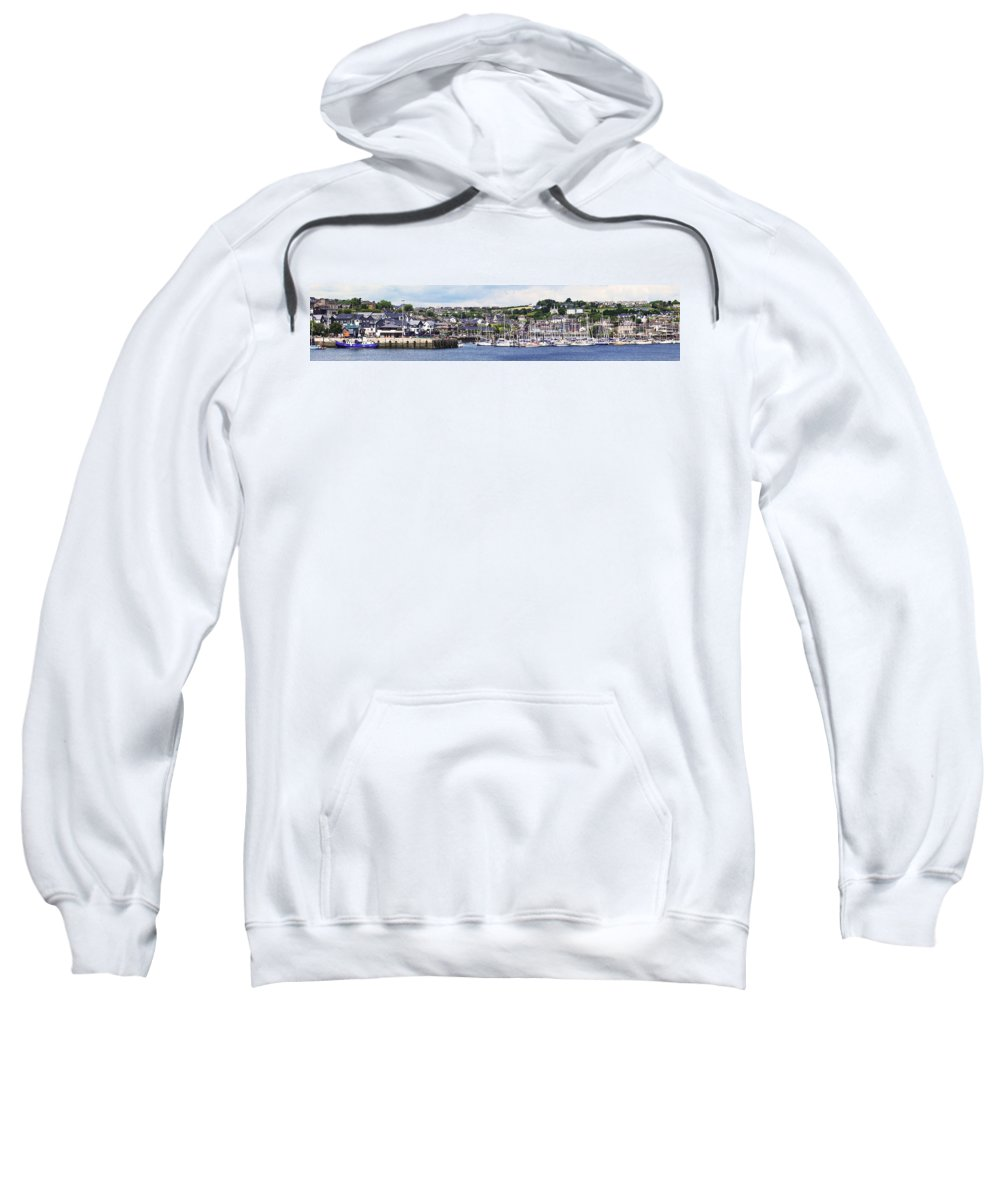 Harbour Sweatshirt featuring the photograph A Busy Harbour And Waterfrontkinsale by Peter Zoeller