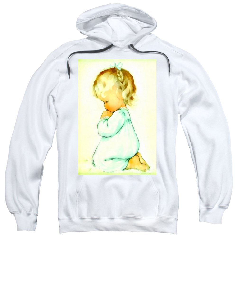 Charlotte Byj Sweatshirt featuring the digital art A Childs Prayer by Charlotte Byj