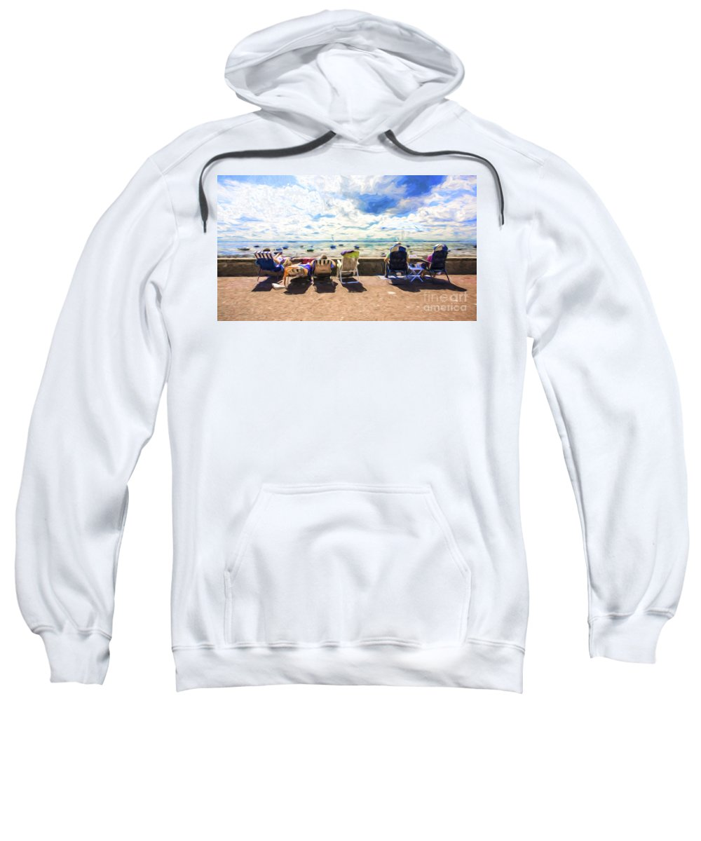 Seaside Sweatshirt featuring the photograph A Day At The Seafront by Sheila Smart Fine Art Photography