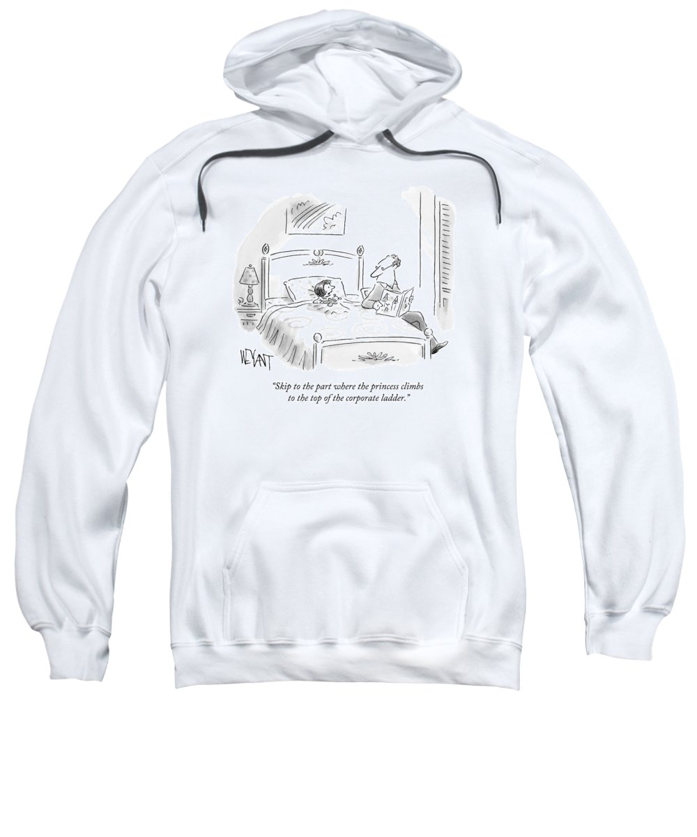 Parenting Sweatshirt featuring the drawing A Father Reads His Daughter A Bedtime Story by Christopher Weyant