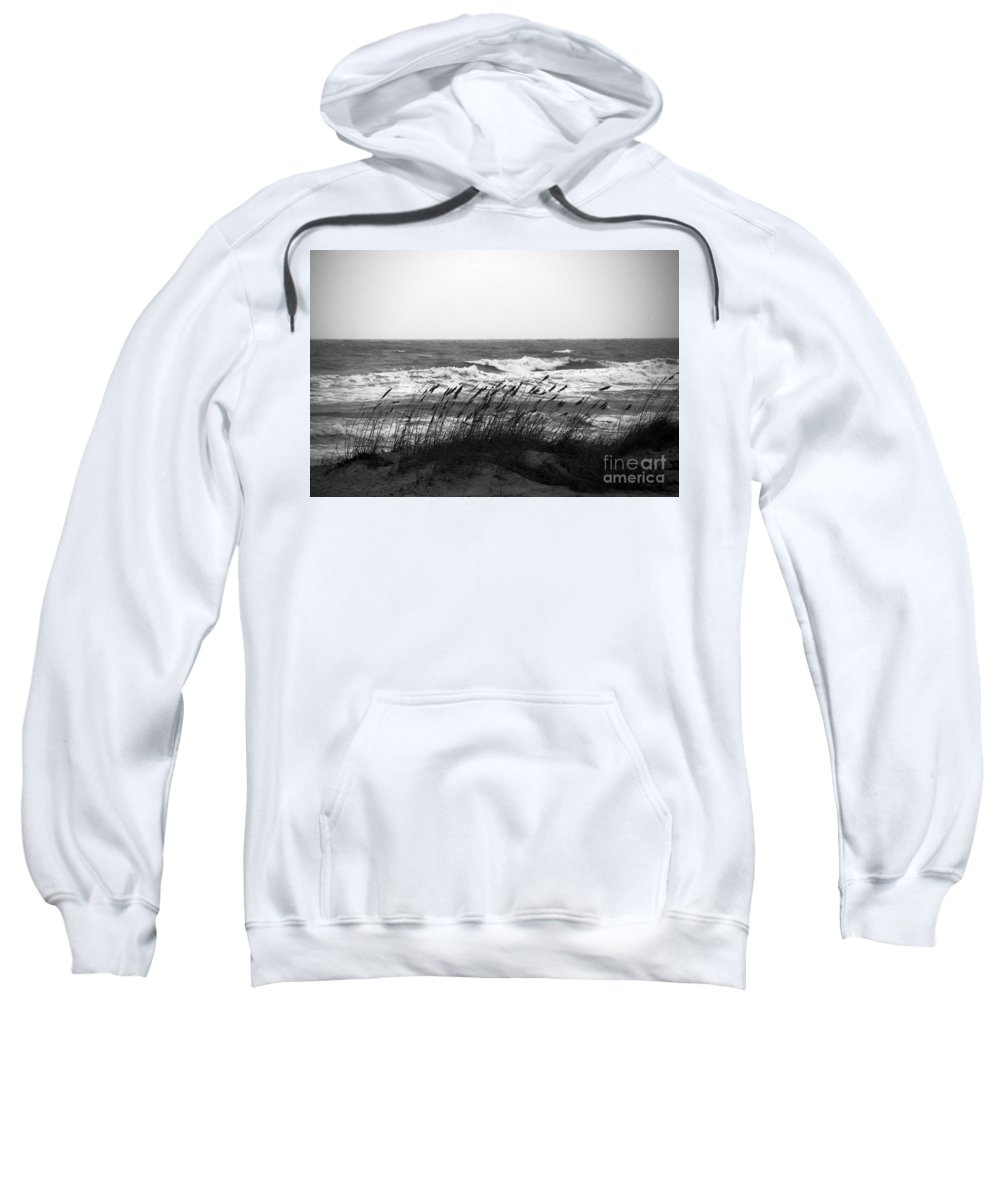 Waves Sweatshirt featuring the photograph A Gray November Day At The Beach by Susanne Van Hulst