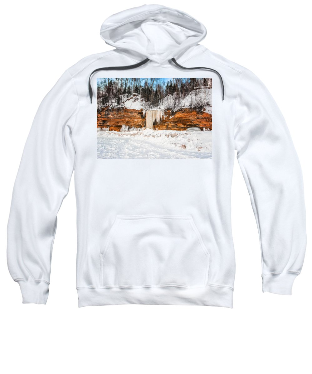 Winter Sweatshirt featuring the photograph A Land Of Snow And Ice by Jonah Anderson