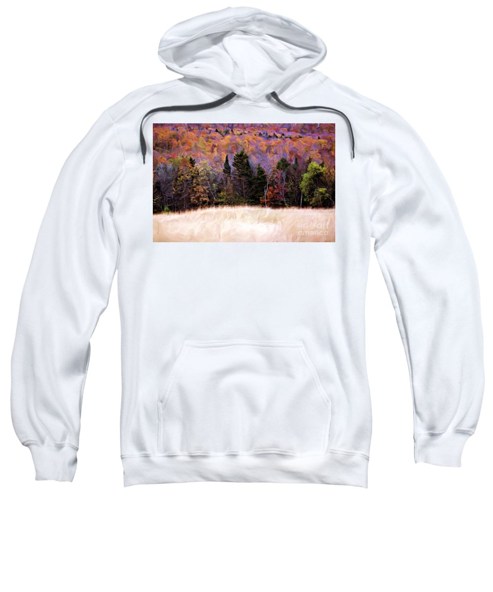 Painting Sweatshirt featuring the photograph A Painting Autumn Field by Mike Nellums