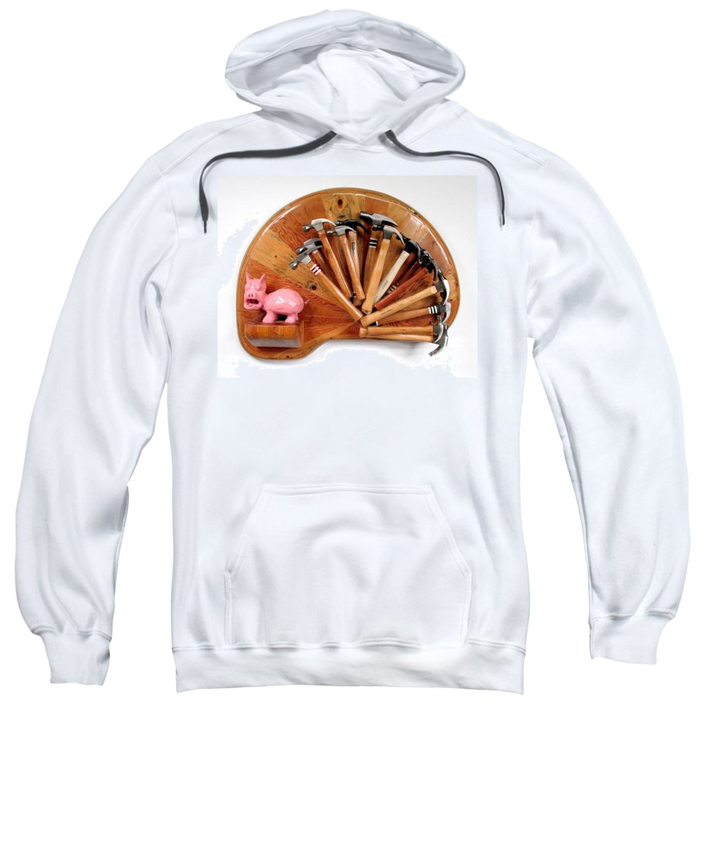 Czappa Sweatshirt featuring the relief A Pigs Interest  #64 by Bill Czappa